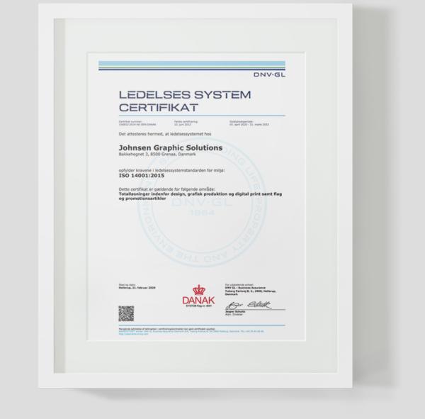 Ledelses system certifikat