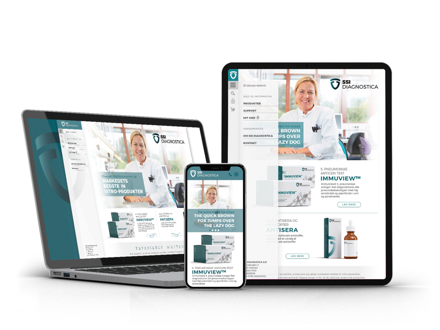 SSI Diagnostica Website
